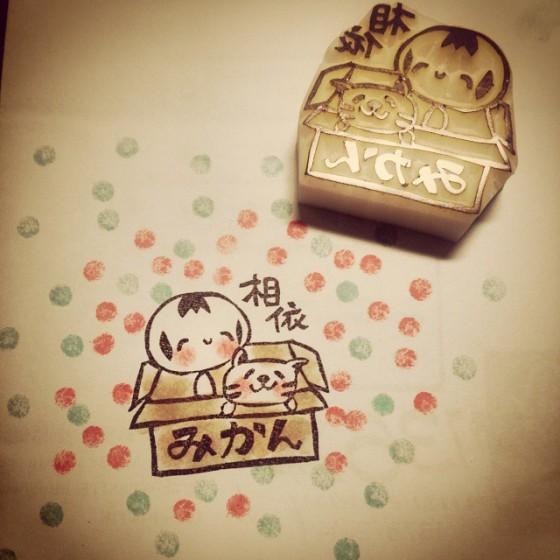 kokeshi and neko